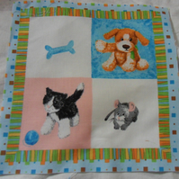 100% cotton fabric.  Dog.  Sold separately, postage .62p for many (10)