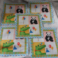 100% cotton fabric. Balloon.  Sold separately, postage .62p for many (13)