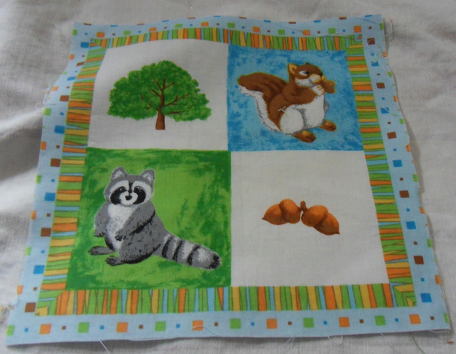 100% cotton fabric.  Tree.  Sold separately, postage .62p for many (15)