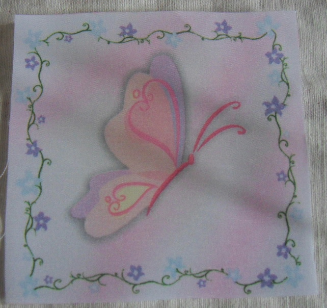 Polycotton squares.Butterfly.  Sold separately.  .62p postage on many (20)