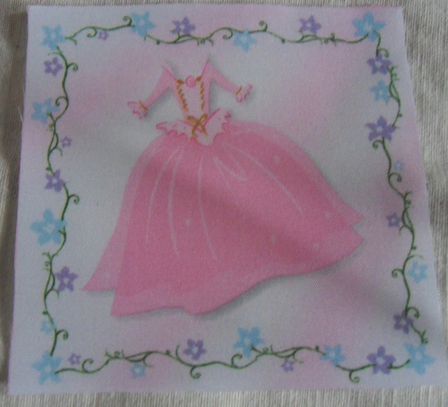 Polycotton squares. Pink dress.  Sold separately.  .62p postage on many (23)