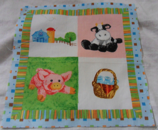 100% cotton fabric.  Barn.  Sold separately, postage .62p for many (16)