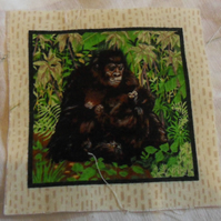 100% cotton fabric.  Gorilla.  Sold separately, postage .62p for many (41)