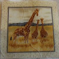 100% cotton fabric. Giraffee  Sold separately, postage .62p for many (42)