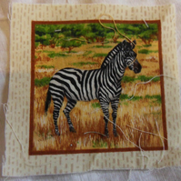 100% cotton fabric.  Zebra  Sold separately, postage .62p for many (45)