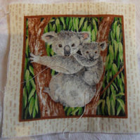 100% cotton fabric.  Koala  Sold separately, postage .62p for many (47)