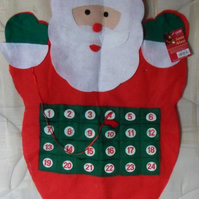 "Father Christmas advent calendar.  Approx measures 32"" x 17"""