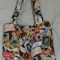 Homemade Totebag. Gone with the wind design. Lined.  100% cotton fabric