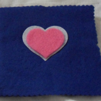 Felt Sewing pin-needle case. Blue, white, pink (1)
