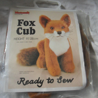 Ready to sew Fox cub kit. Approx 11""