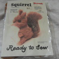 Ready to sew squirrel kit. Approx measures 6""