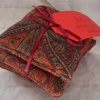 Set of three lavender cushions.  Red (1)