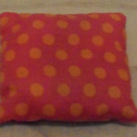 Scented lavender cushion. Pink-orange spots (4). Free postage