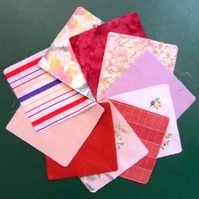 "100 poly cotton 4"" squares. Great for kids crafts or quilting (set 12)"