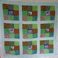 Homemade 100% cotton Sewing design patchwork quilt