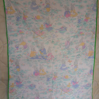 "Homemade Colourful Rabbit baby,child quilt. Measures 44"" x 36"""
