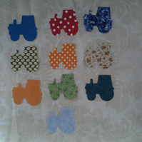 Homemade set of 10 Tractor cotton embellishments