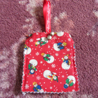 Homemade Christmas tree decoration. Snowmen (15) Free postage
