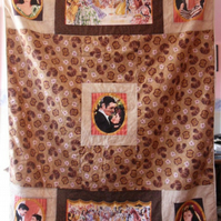 Homemade Gone with the Wind Patchwork quilt