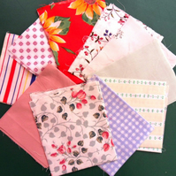 "10 Pieces poly cotton approx 9"" x 11"". Great for crafts (set 1)"