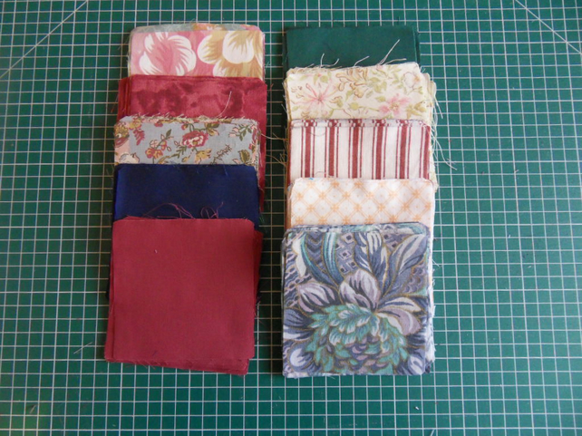 "100 poly cotton 4"" squares. Great for kids crafts or quilting (set 25)"