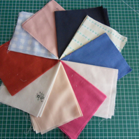 "10 Pieces poly cotton approx 9"" x 11"". Great for crafts (set 9)"