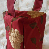 Homemade Red and gold design doorstop (27)