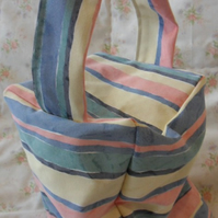 Homemade Pink, yellow, blue, green stripe doorstop (32)