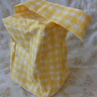 Homemade Yellow check doorstop (35)