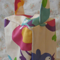 Homemade Birds on Cream background doorstop (37)