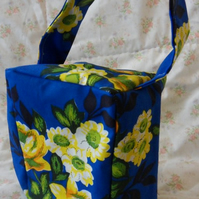 Homemade Yellow flowers on blue background doorstop (38)