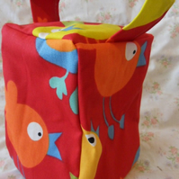 Homemade birds on red background doorstop (39)