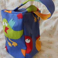 Homemade Birds on blue background doorstop (40)