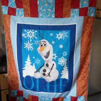 Homemade Olaf Frozen patchwork quilt
