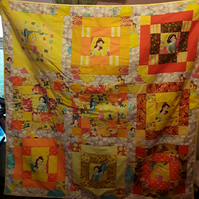 Homemade Disney Princesses patchwork quilt