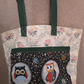 Homemade large owl design tote bag