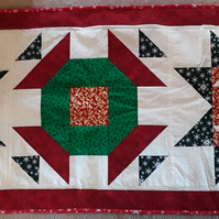Homemade Christmas three block table runner