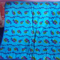 Colourful Fish and Dolphin baby Quilt (64)