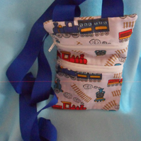 Round the neck, Colourful train money bag