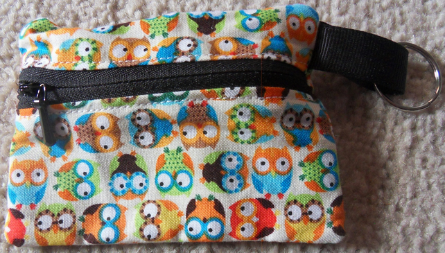 Coin Purse, Wide eyed Owls