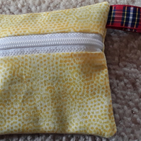 Yellow spotted coin purse