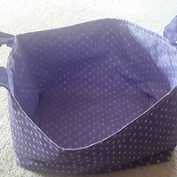 Homemade Purple Fabric basket