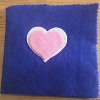 Felt Blue needle-pin case