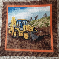 Yellow Digger. 100% cotton fabric squares
