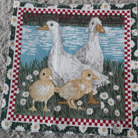 Geese and chicks fabric squares. 100% cotton