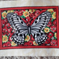 Grey,white and black butterfly. 100% cotton fabric