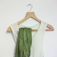 Cream And Forest Green Ombre Dip Dyed Knitted Twist Maxi Dress