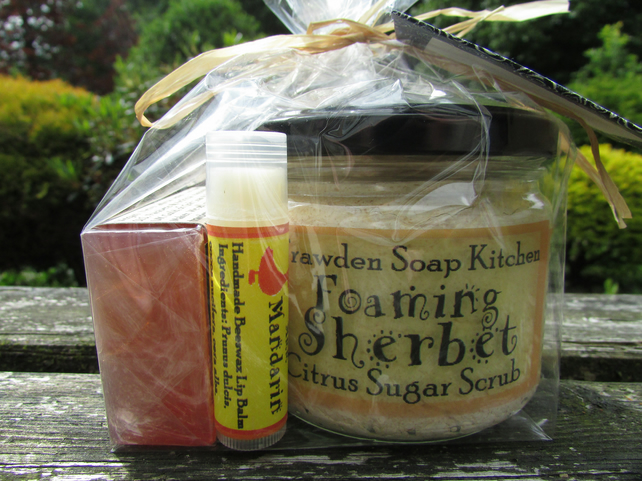 large Foaming Sherbet gift set by Trawden Soap Kitchen