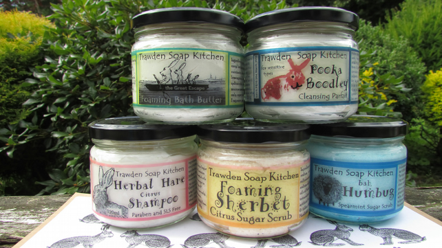 Choose 2, gift pack selection of body washes, sugar scrub, shampoo