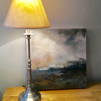 "Original acrylic painting, ""Rising tide, east coast"", deep edge canvas"